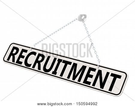 Recruitment Banner Isolated On White