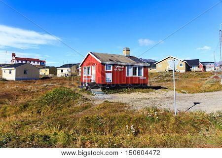 Colourful Houses, Nasaq, Greenland, Europe