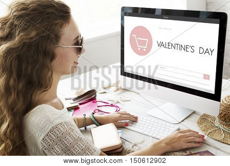 Valentine's Day Shopping Homepage Website Concept