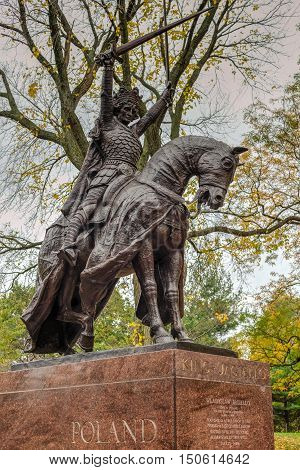 King Jagiello Monument - Central Park - Nyc