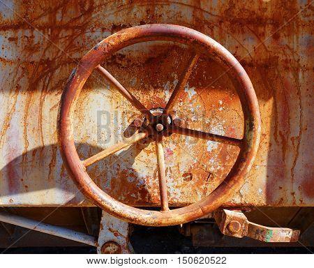 Old Rusty Valve On A Train