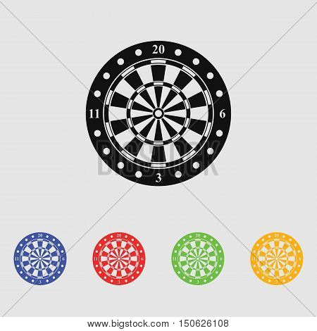 Dartboard vector icon for web and mobile