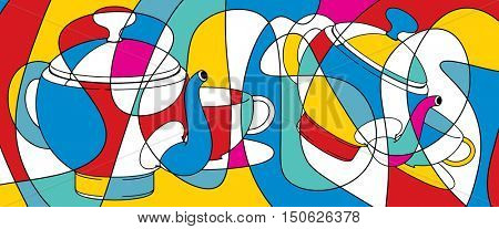 tea time, abstract background