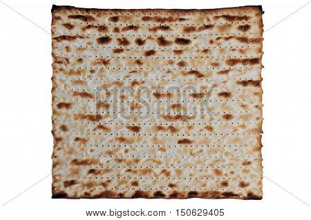 Traditional Jewish Matzo sheet on a Passover Seder table. Passover is a predominantly Jewish holy day and festival. It commemorates the story of the Exodus in which the ancient Israelites were freed from slavery in Egypt. Passover begins on the 15th day o