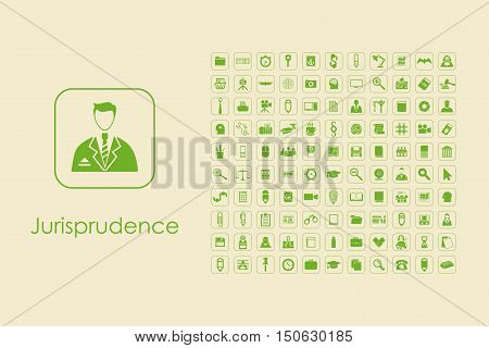 It is a set of jurisprudence simple web icons
