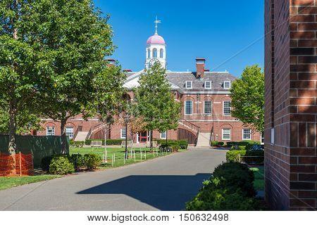 Dillon Fieldhouse on the territory of Harvard University