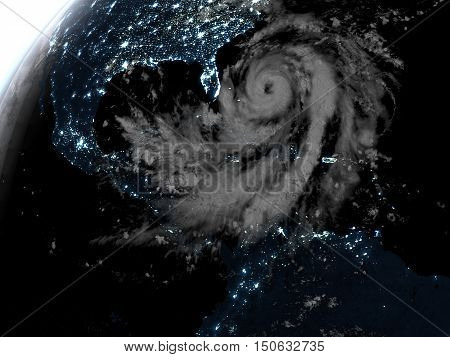 Hurricane During Night