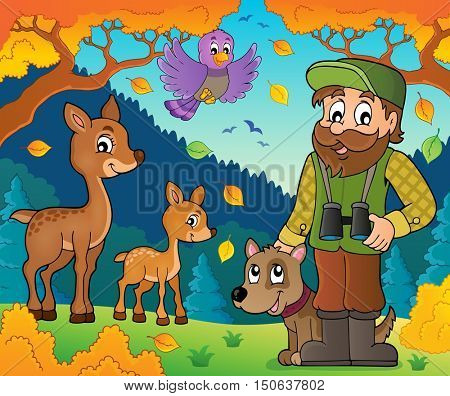 Forester theme image 8 - eps10 vector illustration.