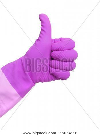 Cleaning thumbs up