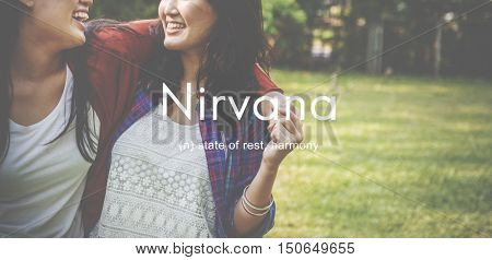 Nirvana Peace Serenity Relaxation Concept