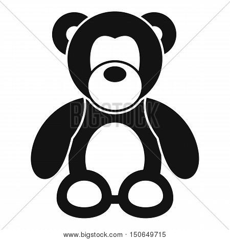 Teddy bear icon in simple style on a white background vector illustration