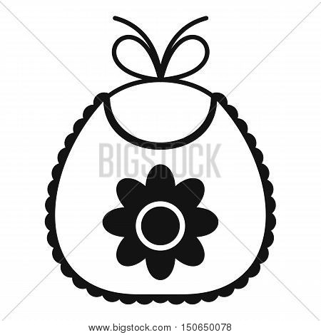 Baby bib icon in simple style on a white background vector illustration