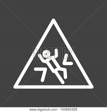 Stone, crushed, warning icon vector image. Can also be used for warning caution. Suitable for use on web apps, mobile apps and print media.