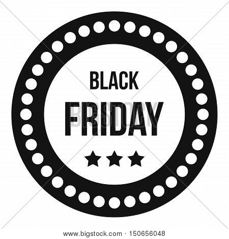 Black Friday sticker icon in simple style on a white background vector illustration