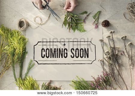Coming Soon Advertise Alert Announcement Concept