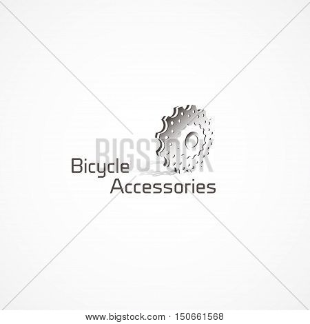 Figure bike cassettes, a logo, vector, sports themes.