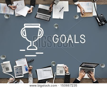 Goals Target Aim Mission Strategy Concept