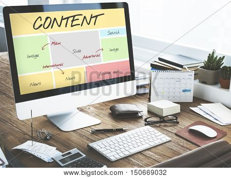 Content Website Web Design Concept