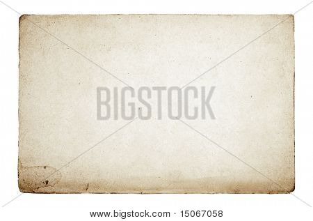 old paper texture isolated on white background with clipping path