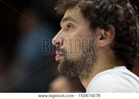 VALENCIA, SPAIN - OCTOBER 6th: Sergio Llull during spanish league match between Valencia Basket and Real Madrid at Fonteta Stadium on October 6, 2016 in Valencia, Spain
