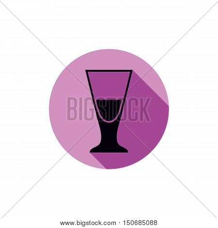 Alcohol beverage theme icon blend or cocktail glass placed in circle.