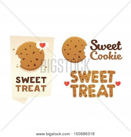 Set confectionery banners, labels, logos. Sweet Treat.