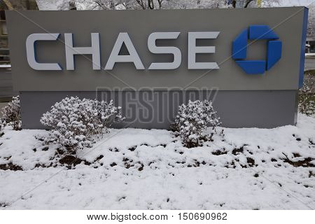Chase Bank in Stamford Stamford USA NEW YORK - MARCH 21: Chase Bank branch in Stamford United States America. Photo taken on: March 21st 2016.