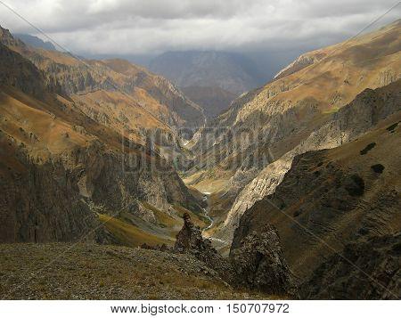 Canyon Creek Tunduk. The Western Tien-Shan. Uzbekistan.