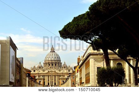 Rome Italy - September 15 2016 : The Vatican is the smallest sovereign state in the world by both area and population