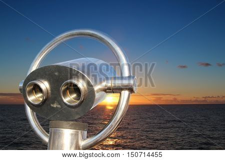 The telescope to sailor longing at suns