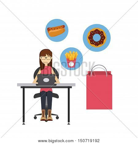 restaurant menu online order vector illustration design