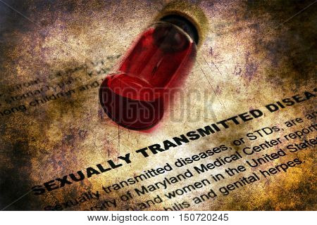 Sexually Transmitted Diseases Grunge Concept