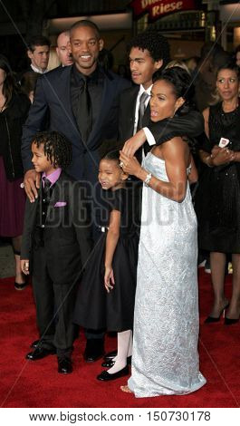Jada Pinkett Smith, Will Smith and family at the Los Angeles premiere of 'The Pursuit of Happyness' held at the Mann Village Theater in Westwood, USA on December 7, 2006.