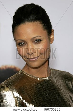 Thandie Newton at the Los Angeles premiere of 'The Pursuit of Happyness' held at the Mann Village Theater in Westwood, USA on December 7, 2006.