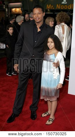 Terrence Howard and daughter Heavenly at the Los Angeles premiere of 'The Pursuit of Happyness' held at the Mann Village Theater in Westwood, USA on December 7, 2006.