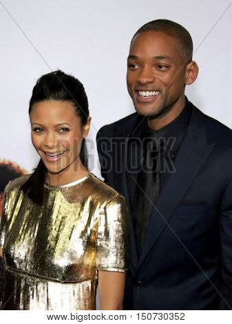Thandie Newton and Will Smith at the Los Angeles premiere of 'The Pursuit of Happyness' held at the Mann Village Theater in Westwood, USA on December 7, 2006.