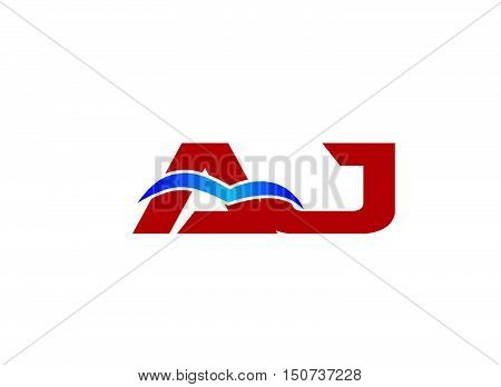Letter AJ Logo design vector template abstract