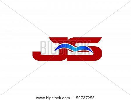 JS Logo. Vector Graphic Branding Letter Element