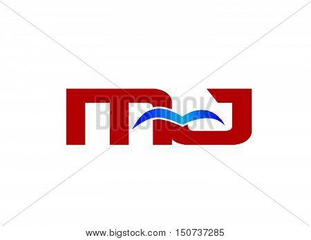 Letter MJ Logo design vector template abstract
