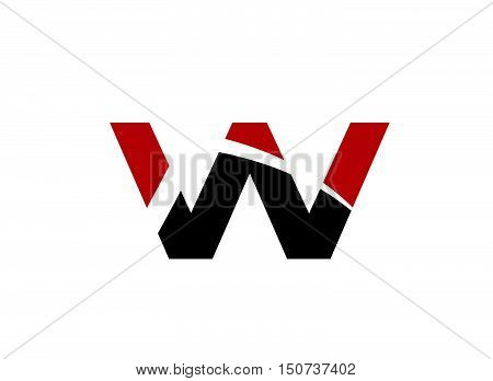 Vector illustration of abstract icons based on the letter W logo