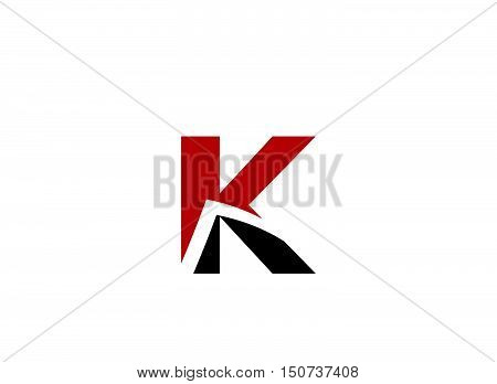 Abstract Letter K vector logo symbol design vector template