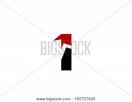 Abstract Number 1 logo Symbol  design vector template