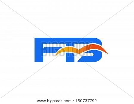 FB initial company logo design vector illustration template