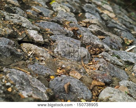 closeup shot of incline stone floor texture