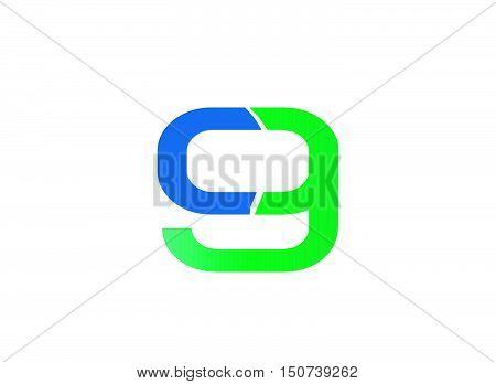 Number nine logo.Logo 9 vector template 1