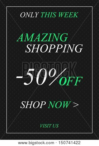 Vector promotional Amazing Shopping banner for online stores websites retail posters social media ads. Creative banner layout for m-commerce advertising.