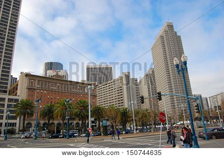 SAN FRANCISCO, CA - DEC 27: Four Embarcadero Center in the Financial District on December 27, 2008 in San Francisco, California, USA.