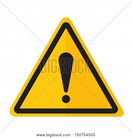 Exclamation point icon danger button and attention warning sign. Attention security alarm symbol. Danger warning attention sign with symbol information and notification icon vector