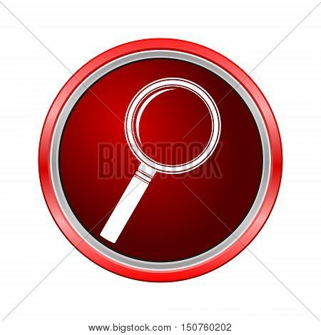 Search Icon (Lupa), Internet button on white background