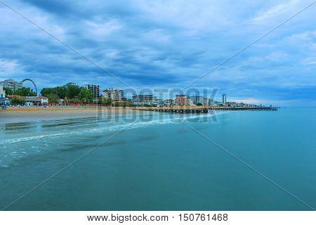 Beach area Lido di Jesolo Venice Italy